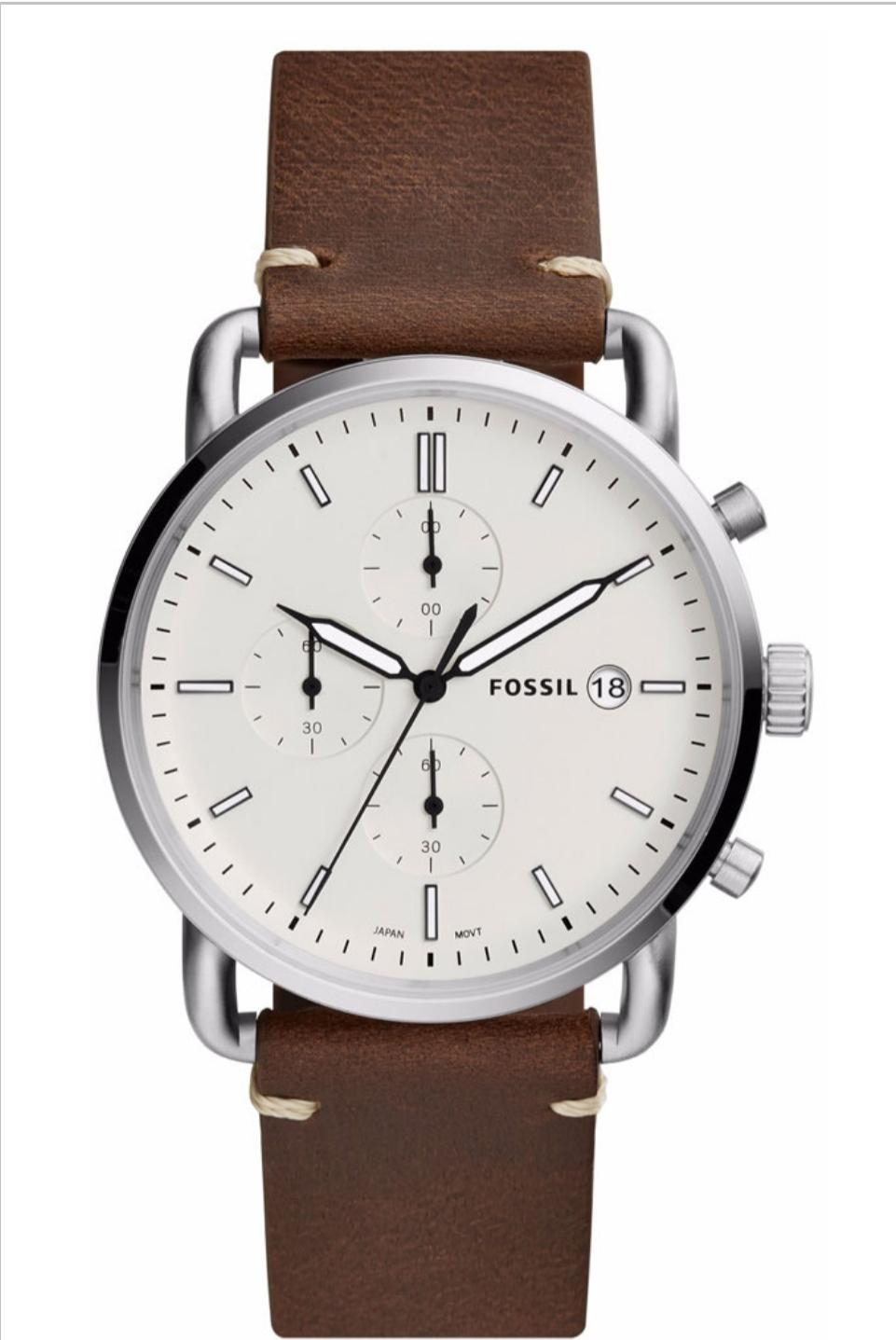 FOSSIL The Commuter Brown Leather Chronograph