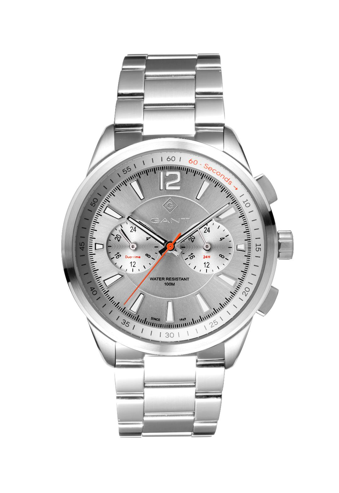 Ανδρικό Ρολόι GANT Walworth Silver Stainless Steel Multifunction.