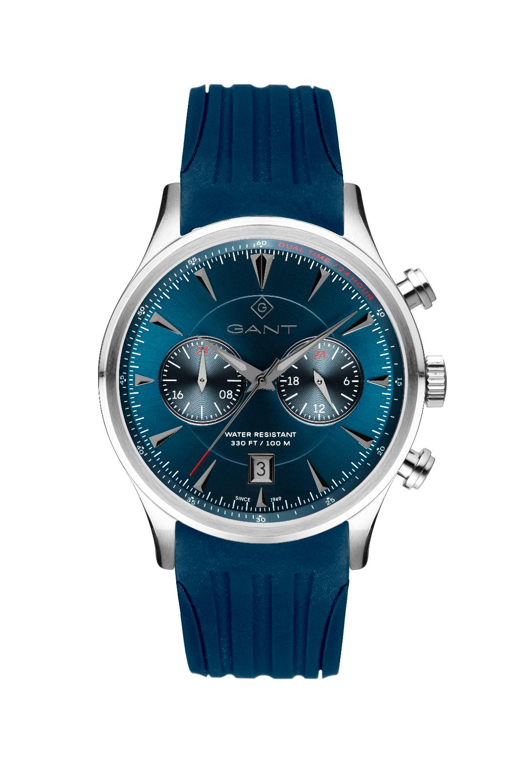 Ανδρικό Ρολόι GANT Spencer Blue Rubber Multifunction.