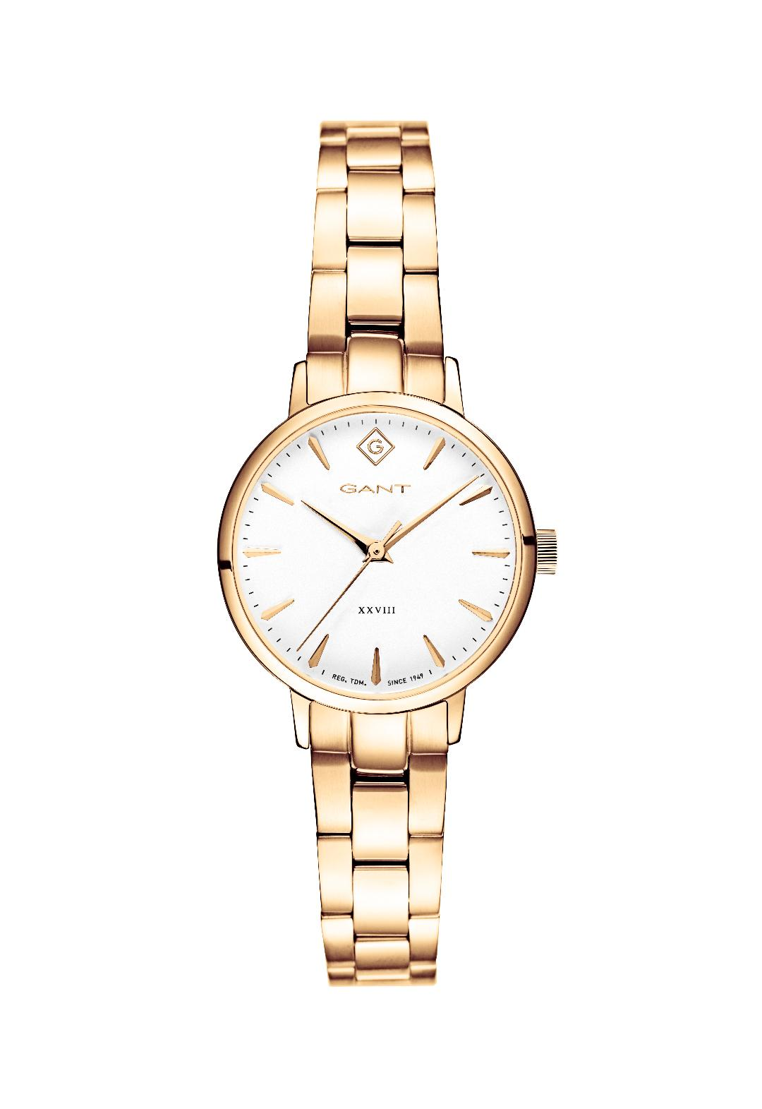 Park Avenue Lady Three Hands 28mm Gold Stainless Steel Bracelet.