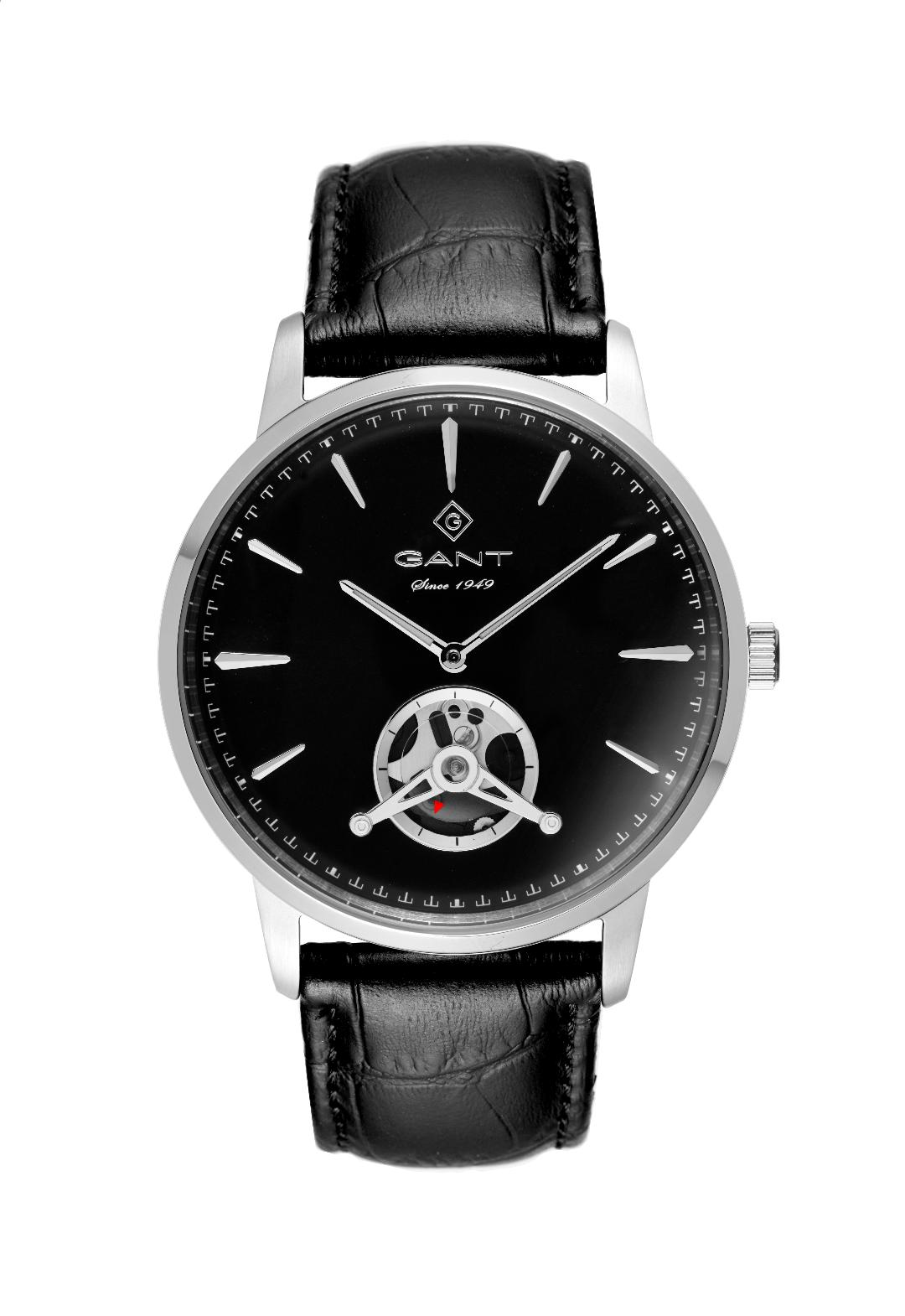 Ανδρικό Ρολόι GANT Park Hempstead Black Leather Strap.